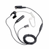 Surveillance Earpiece 3-Wire with VOX and Transparent Acoustic Tube (Black)