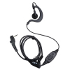 Earpiece with inline PTT/mic and VOX w/set screw