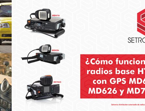 ¿Cómo funcionan los radios base HYTERA con GPS MD616, MD626 y MD786G?